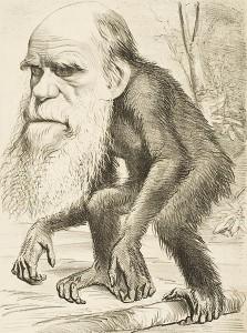 Ο Κάρολος Δαρβίνος απεικονίζεται ως πίθηκος